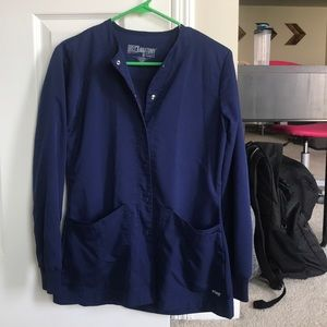 Navy Grey's Anatomy scrub jacket